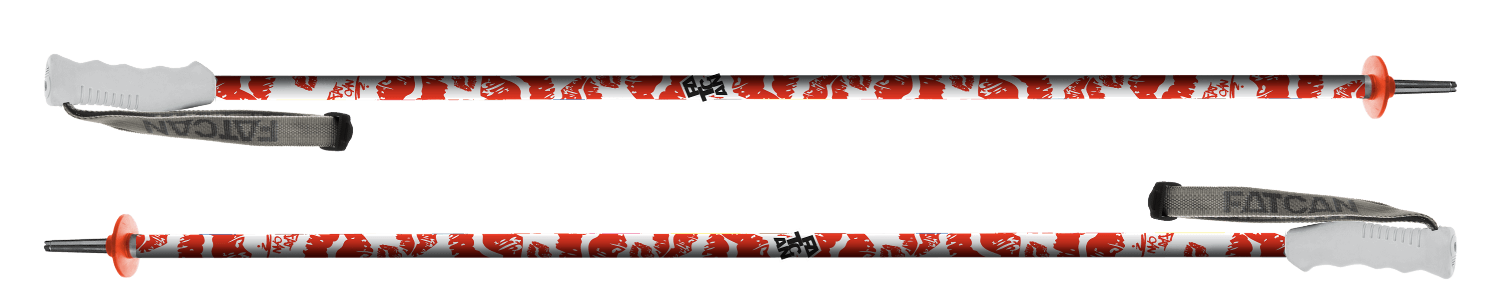 Kiss Red 18 - Fatcan ski Poles made in Italy