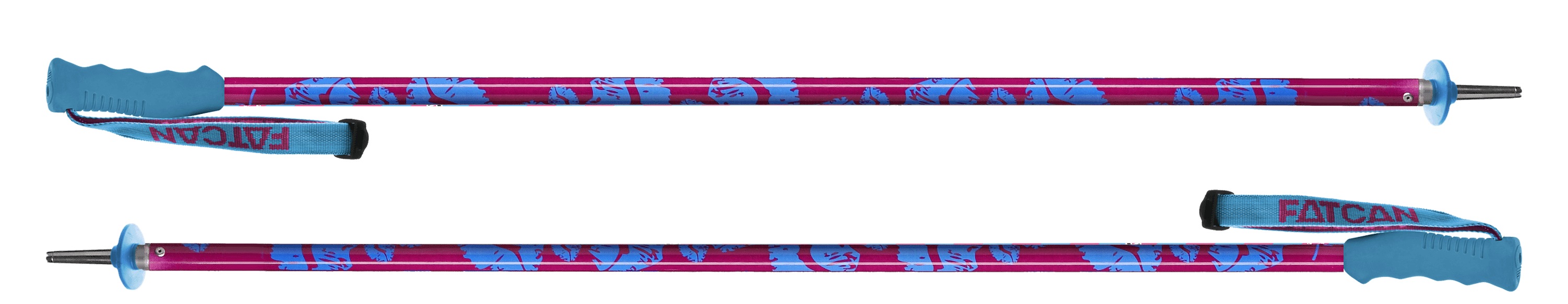Kiss Blue - Fatcan SKI POLES Made In Italy